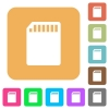 SD memory card rounded square flat icons - SD memory card icons on rounded square vivid color backgrounds.