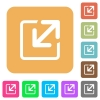 Resize window rounded square flat icons - Resize window icons on rounded square vivid color backgrounds