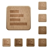 Text align left wooden buttons - Text align left icons on carved wooden button styles