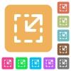 Resize element rounded square flat icons - Resize element icons on rounded square vivid color backgrounds.