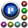 Align to top glossy buttons - Align to top icons in round glossy buttons with steel frames