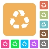 Recycling rounded square flat icons - Recycling icons on rounded square vivid color backgrounds.