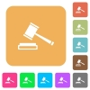 Auction hammer rounded square flat icons - Auction hammer icons on rounded square vivid color backgrounds.