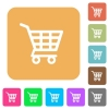 Shopping cart rounded square flat icons - Shopping cart icons on rounded square vivid color backgrounds.