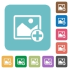 Add new image rounded square flat icons - Add new image white flat icons on color rounded square backgrounds