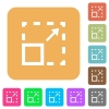 Maximize element rounded square flat icons - Maximize element icons on rounded square vivid color backgrounds.