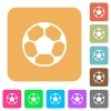 Soccer ball rounded square flat icons - Soccer ball icons on rounded square vivid color backgrounds.