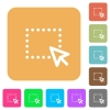 Drag and drop operation rounded square flat icons - Drag and drop operation icons on rounded square vivid color backgrounds.