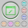 Application wizard push buttons - Application wizard color icons on sunk push buttons