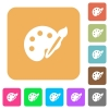 Paint rounded square flat icons - Paint icons on rounded square vivid color backgrounds.