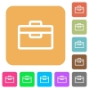 Toolbox rounded square flat icons - Toolbox icons on rounded square vivid color backgrounds.