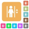 Elevator rounded square flat icons - Elevator icons on rounded square vivid color backgrounds.