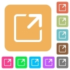 Maximize window rounded square flat icons - Maximize window icons on rounded square vivid color backgrounds.