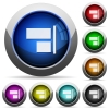 Align to right round glossy buttons - Align to right icons in round glossy buttons with steel frames