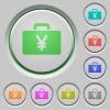 Yen bag push buttons - Yen bag color icons on sunk push buttons