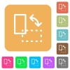 Rotate element rounded square flat icons - Rotate element icons on rounded square vivid color backgrounds.