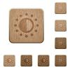 Saturation control wooden buttons - Saturation control on carved wooden button styles