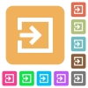 Import rounded square flat icons - Import icons on rounded square vivid color backgrounds.