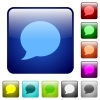 Blog comment color square buttons - Blog comment icons in rounded square color glossy button set