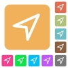 Direction arrow rounded square flat icons - Direction arrow icons on rounded square vivid color backgrounds.