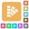 Color swatch rounded square flat icons - Color swatch icons on rounded square vivid color backgrounds.