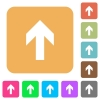 Up arrow rounded square flat icons - Up arrow icons on rounded square vivid color backgrounds.