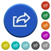 Export beveled buttons - Export round color beveled buttons with smooth surfaces and flat white icons