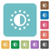 Saturation control rounded square flat icons - Saturation control white flat icons on color rounded square backgrounds