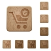 Secure shopping wooden buttons - Secure shopping on carved wooden button styles
