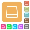 Hard disk drive rounded square flat icons - Hard disk drive icons on rounded square vivid color backgrounds.