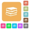 Books rounded square flat icons - Books icons on rounded square vivid color backgrounds.