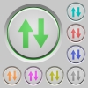 Data traffic push buttons - Data traffic color icons on sunk push buttons