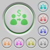 Send Dollars push buttons - Send Dollars color icons on sunk push buttons
