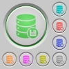 Database save push buttons - Database save color icons on sunk push buttons