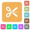 Cut out rounded square flat icons - Cut out icons on rounded square vivid color backgrounds.