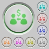 Receive Dollars push buttons - Receive Dollars color icons on sunk push buttons