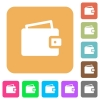 Wallet rounded square flat icons - Wallet icons on rounded square vivid color backgrounds.