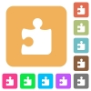 Puzzle rounded square flat icons - Puzzle icons on rounded square vivid color backgrounds.