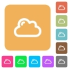 Cloud rounded square flat icons - Cloud icons on rounded square vivid color backgrounds.
