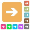 Right arrow rounded square flat icons - Right arrow icons on rounded square vivid color backgrounds.