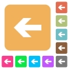 Left arrow rounded square flat icons - Left arrow icons on rounded square vivid color backgrounds.
