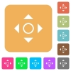 Scroll rounded square flat icons - Scroll icons on rounded square vivid color backgrounds.