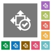 Accept size square flat icons - Accept size flat icons on simple color square backgrounds