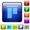 Align to top color square buttons - Align to top icons in rounded square color glossy button set
