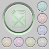 Gas can push buttons - Gas can color icons on sunk push buttons