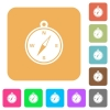 Compass rounded square flat icons - Compass icons on rounded square vivid color backgrounds.