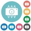 Hardware diagnostics flat round icons - Hardware diagnostics flat white icons on round color backgrounds