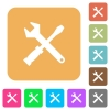 Tool kit rounded square flat icons - Tool kit icons on rounded square vivid color backgrounds.