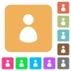 User rounded square flat icons - User icons on rounded square vivid color backgrounds.