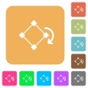 Rotate element rounded square flat icons - Rotate element flat icons on rounded square vivid color backgrounds.